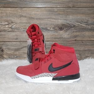 New Nike Air Jordan Legacy 312 Red Mid Sneakers